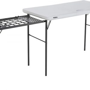 Lifetime Folding Table with Grill Rack