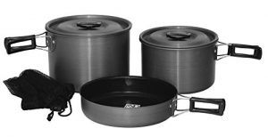5pc Hard Anodized Camping Cookware Set
