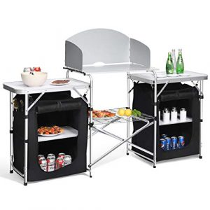 Giantex Folding Camping Kitchen Table