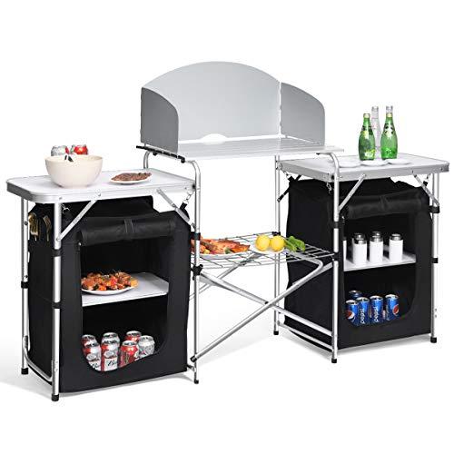Giantex Folding Camping Kitchen Table