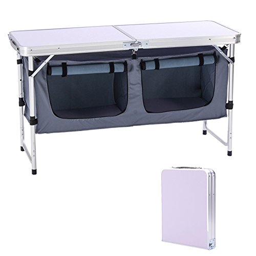 CampLand Outdoor Folding Storage Table