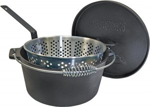 14 Qt Cast Iron Dutch Oven with Basket
