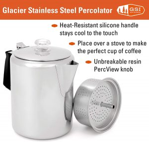 Stainless Steel Percolator 6 Cup Coffee Pot