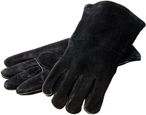 "Lodge 14.5"" Leather Outdoor Cooking Gloves"