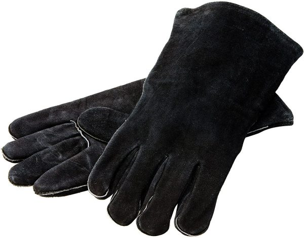 """Lodge 14.5"""" Leather Outdoor Cooking Gloves"""