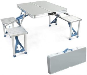 Portable Folding Joined Table and Chairs