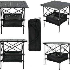 Portable Aluminum Square Folding Table