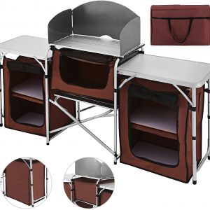 Multifunctional Camping Kitchen Table Windscreen