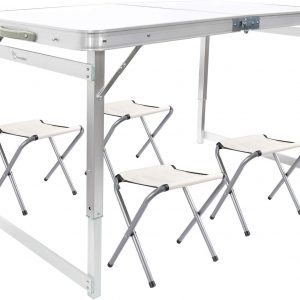 Aluminum Folding Picnic Table with 4 Stools
