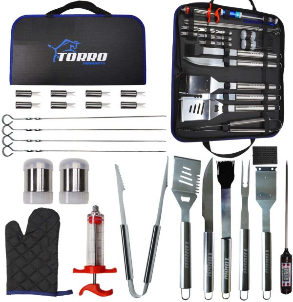 Torro 25PCS Stainless Steel Grill Tool Set