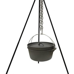 Campfire Cooking Cast Iron Tripod