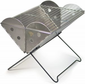 Portable Stainless Steel Grill & Fire Pit