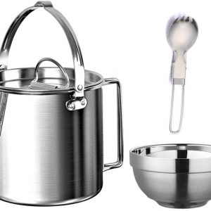 Check out this little kettle to do just what you need on the trail