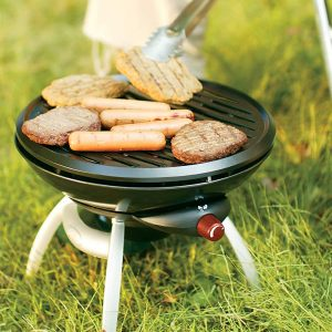 Take this little grill with you for your next picnic