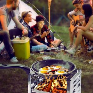 Take this wood burning stove on your next adventure
